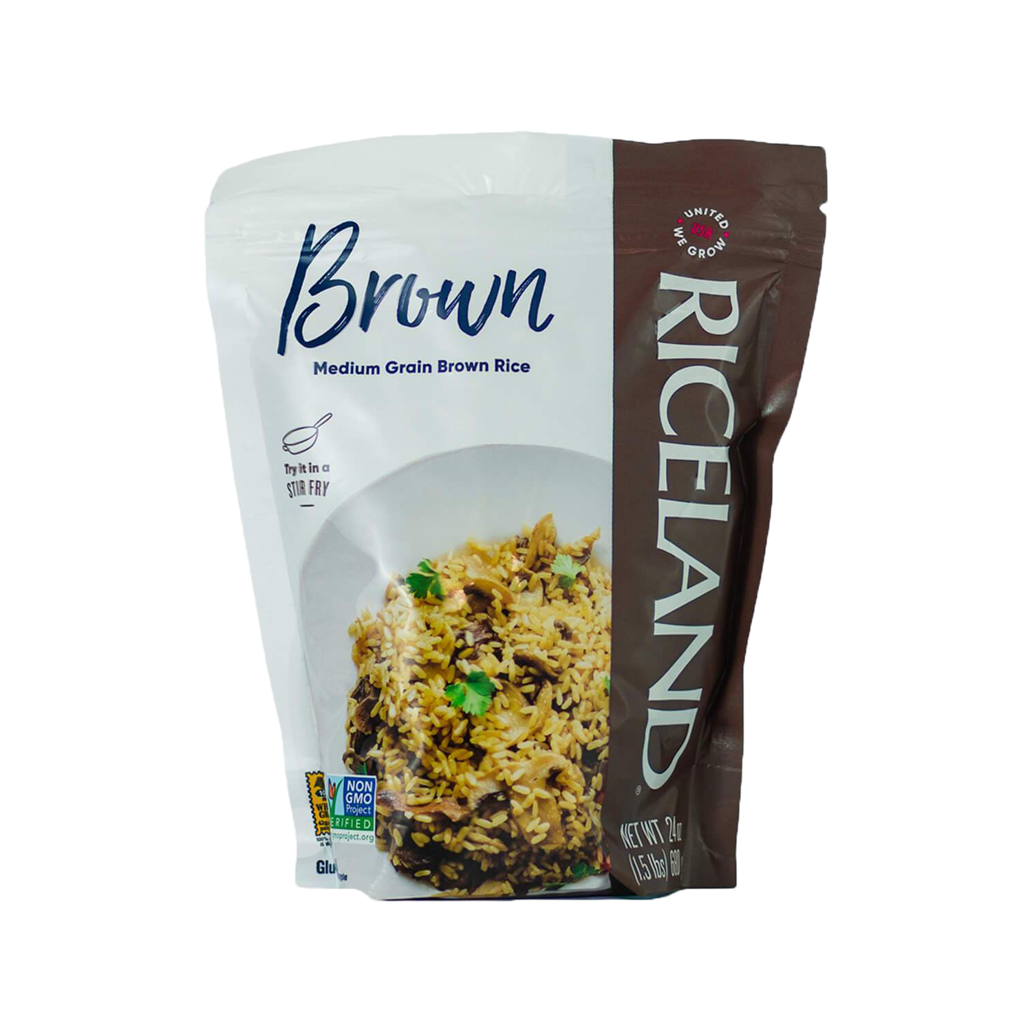 Brown Rice Resealable Pouch