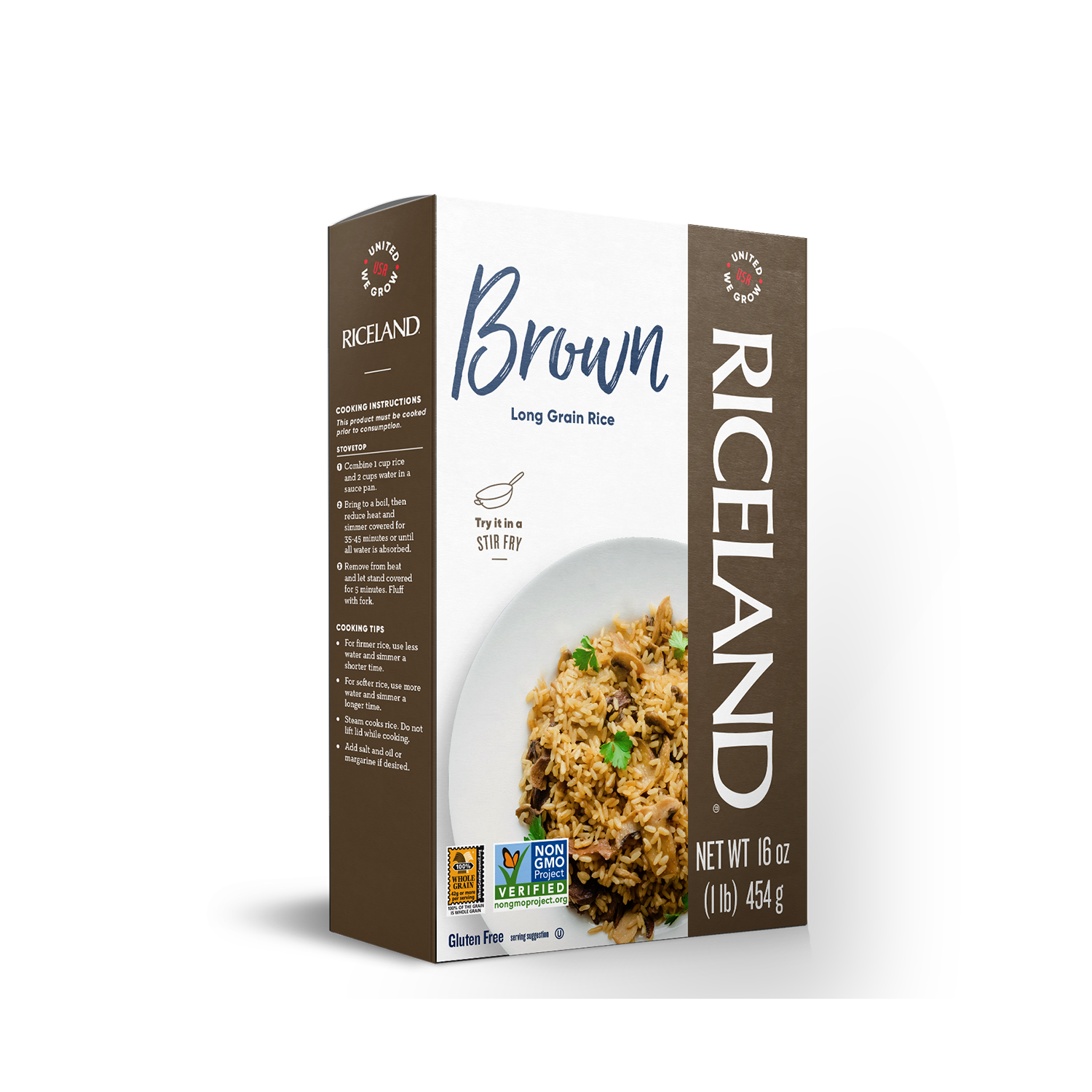 Riceland Extra Long Grain Brown Rice Carton 1 lb